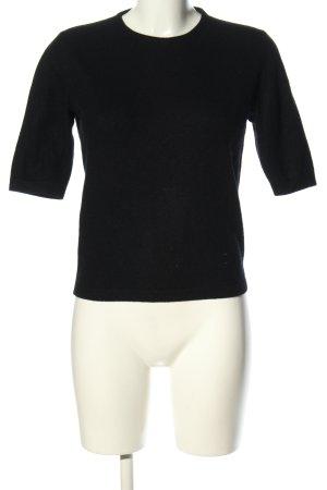 Versace Strickshirt schwarz Business-Look