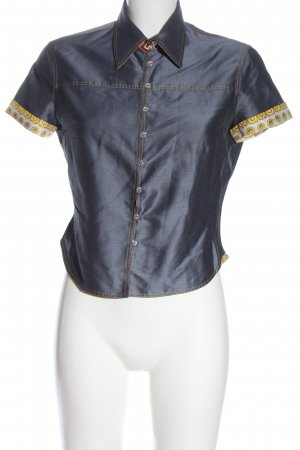 Versace Shirt met korte mouwen blauw casual uitstraling