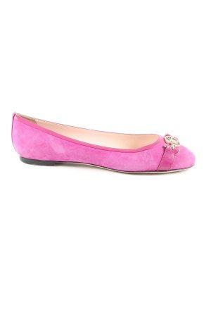 Versace Lackballerinas pink Casual-Look
