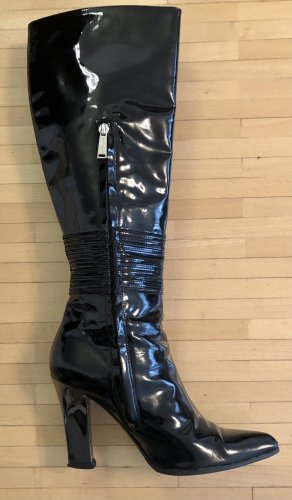 Versace High Heel Boots black leather