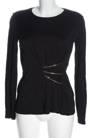 Versace Langarm-Bluse schwarz Elegant