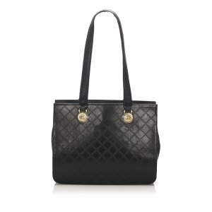 Versace Leather Tote Bag