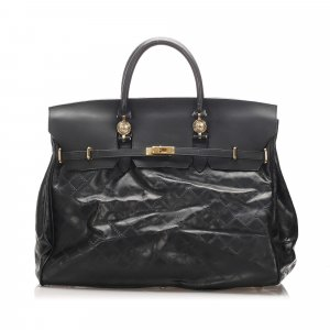 Versace Travel Bag black leather