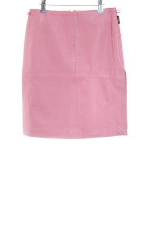 Versace Lederrock rosa Casual-Look