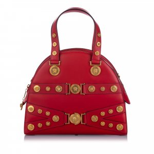 Versace Satchel red leather