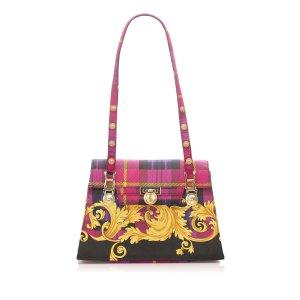 Versace Medusa Canvas Shoulder Bag