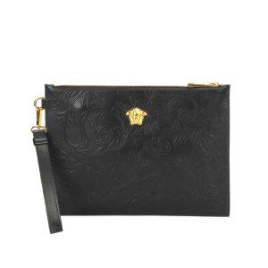 Versace Clutch black leather