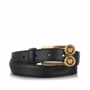 Versace Belt black leather