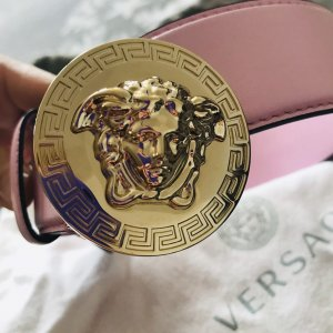 Versace Leather Belt pink
