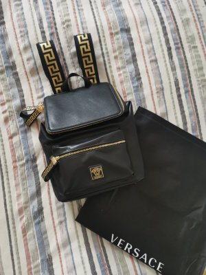 Versace Daypack black-gold-colored mixture fibre