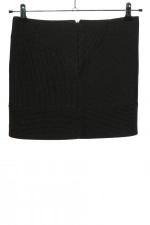 Versace Minirock hellgrau-schwarz Streifenmuster Casual-Look