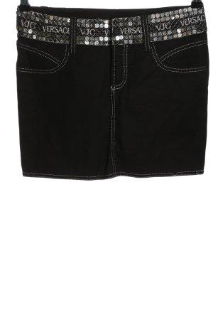 Versace Minirock schwarz Casual-Look