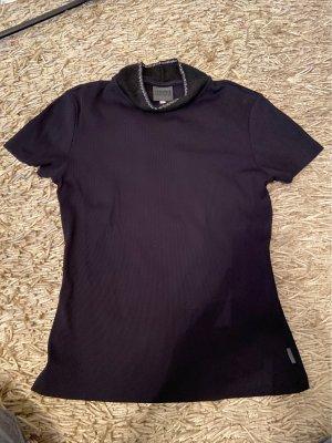 Versace Pull à manches courtes noir