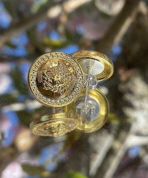 Versace Clou d'oreille doré