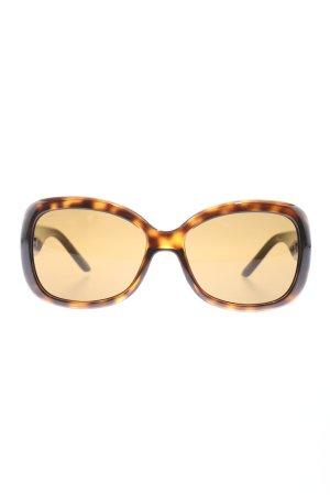 Versace ovale Sonnenbrille braun-blassgelb Farbverlauf Casual-Look