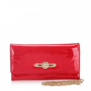 Versace Patent Leather Wallet on Chain