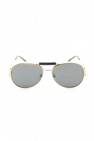 Versace Pilot Brille goldfarben-schwarz Business-Look