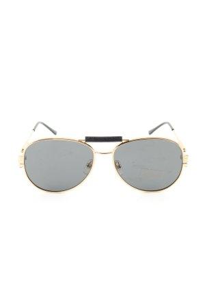 Versace Pilotenbril goud-zwart casual uitstraling
