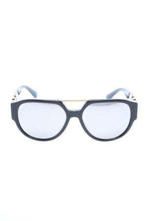 Versace Okulary pilotki czarny-złoto W stylu casual