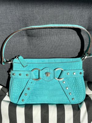 Versace Pochette turquoise leather