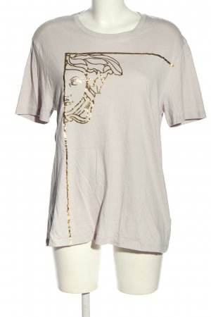 Versace Print-Shirt hellgrau-goldfarben Motivdruck Casual-Look
