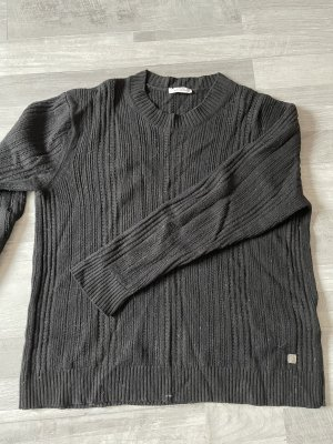 Versace Sweter oversize czarny-antracyt
