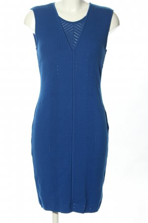 Versace Sweater Dress blue cable stitch casual look