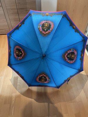 Gianni Versace Walking-Stick Umbrella neon blue