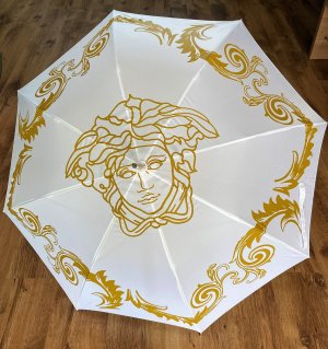 Versace Walking-Stick Umbrella white-gold-colored nylon