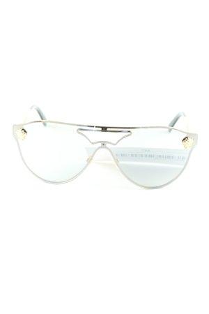 Versace Retro Brille goldfarben-schwarz Street-Fashion-Look