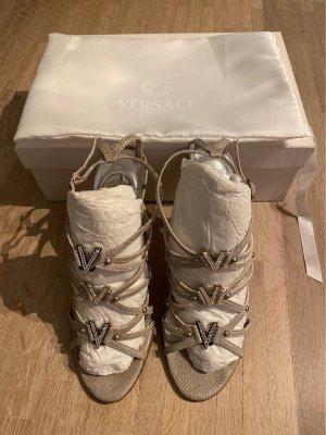 Versace Riemchensandalen silber