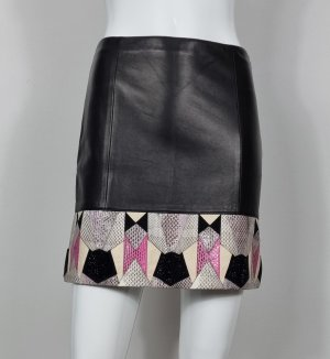 Versace Leather Skirt black leather