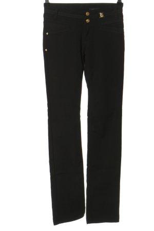 Versace Röhrenhose schwarz Casual-Look