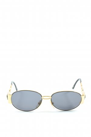 Versace Retro Glasses gold-colored-black wet-look