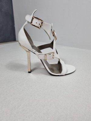 Versace Sandales à lanière blanc cuir