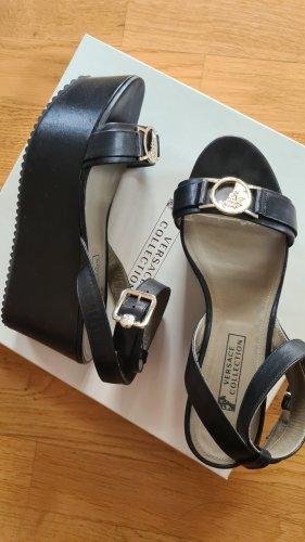 Versace Collection Escarpin à plateforme noir