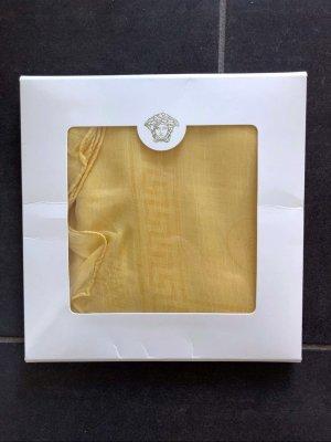 Versace Foulard en soie doré soie