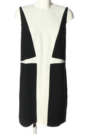 Versace Blusenkleid schwarz-wollweiß Motivdruck Elegant