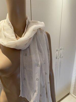 Versace Sciarpa di seta bianco-argento