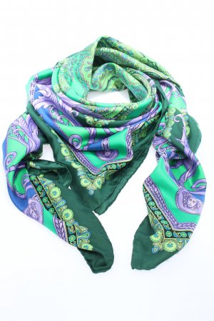 Versace Silk Cloth green-lilac graphic pattern casual look