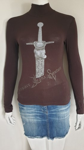 Versace Turtleneck Shirt brown