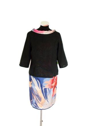 Versace Long Sleeve Blouse black linen
