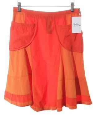 Versace Skaterrock hellrot-orange Retro-Look