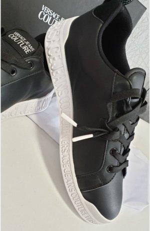 Versace Sneakers met veters wit-zwart