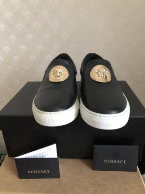 Versace Slip-on Sneakers black leather