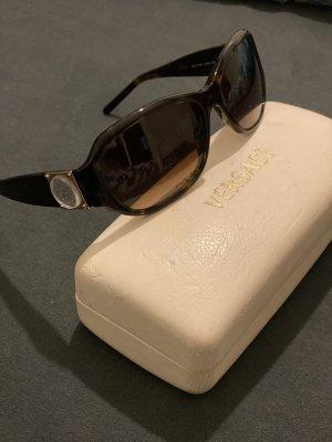 Versace Owalne okulary przeciwsłoneczne ciemnobrązowy-czarno-brązowy