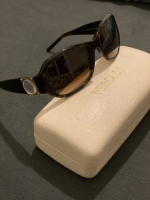 Versace Oval Sunglasses dark brown-black brown