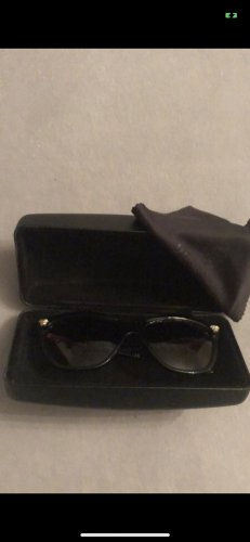 Versace Angular Shaped Sunglasses black-gold-colored