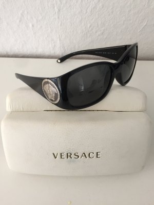 Versace Gafas de sol ovaladas negro-color plata
