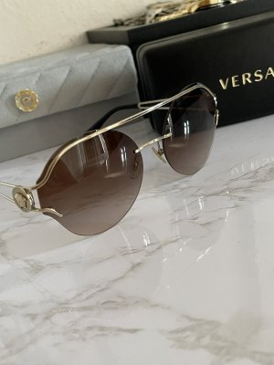Versace Round Sunglasses bronze-colored-gold-colored